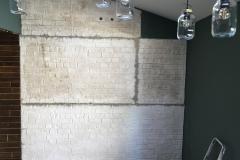 Faux brickwork